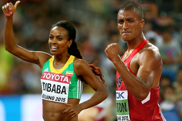 Genzebe Dibaba and Ashton Eaton (Getty Images)