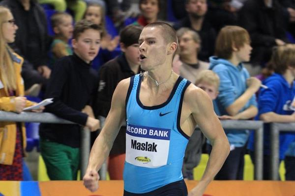 Pavel Maslak setting a 300m European best at the 2014 Flanders Indoor meeting in Gent (Jean-Pierre Durand)