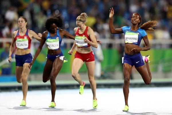 Dalilah Muhammad wins the 400m hurdles at the Rio 2016 Olympic Games (Getty Images)