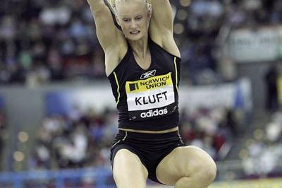 Carolina Kluft of Sweden wins the Long Jump in Birmingham (Getty Images)