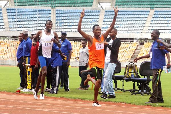Mbaraka James wins the men's 1500m at the Tanzanian Championships (Japheth Kazenga)