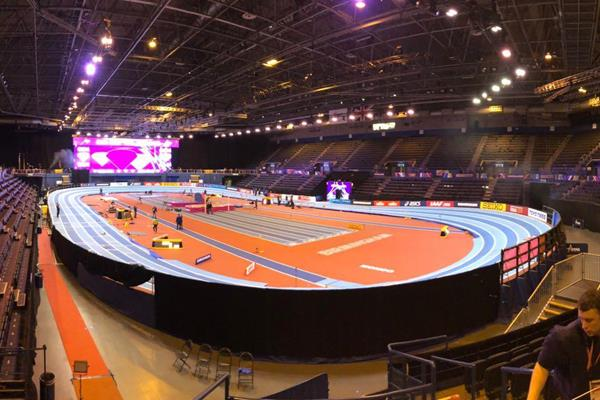 Arena Birmingham on World Indoor Championships Eve (Thomas Byrne)