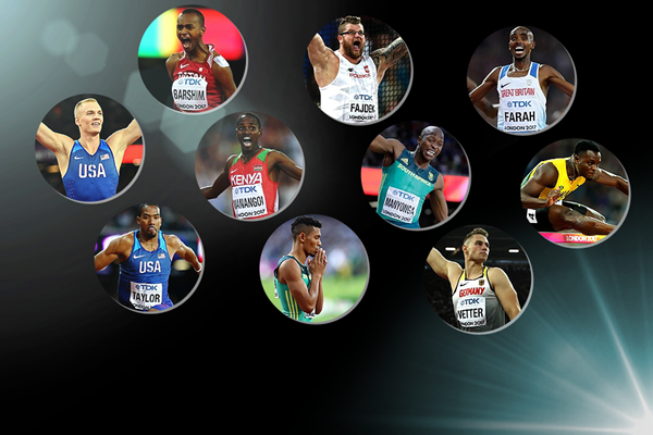 The nominees for the men's 2017 IAAF Athlete of the Year award (Getty Images)