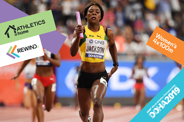 Watch World Athletics: women's 4x100m (AFP / Getty Images)