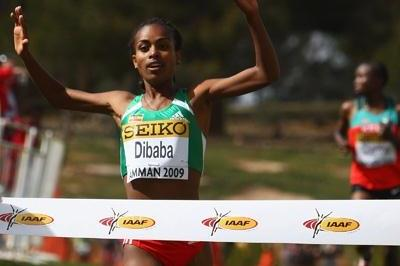 Genzebe Dibaba wins her second World junior cross title, one more than her sister Tirunesh (Getty Images)