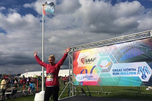 Bupa Great North Run one millionth finisher Tracy Cramond (organisers)