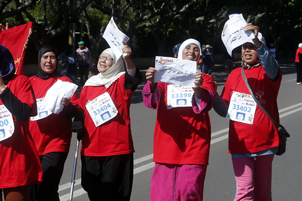 Participants at the Women's Race to Victory in Rabat (Organisers)