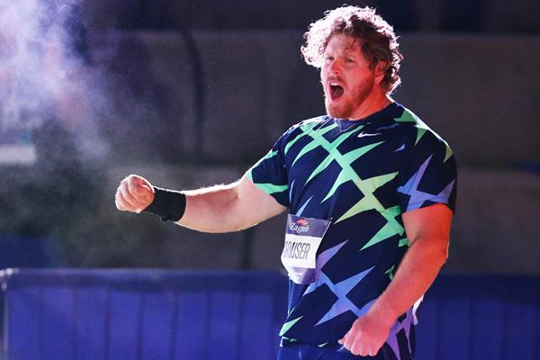 Ryan Crouser, winner of the shot put in Zagreb (Organisers)