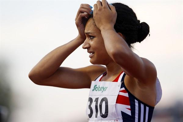After six years and 151 races, Jodie Williams' winning streak comes to an end in the 200m as she settles for silver (Getty Images)