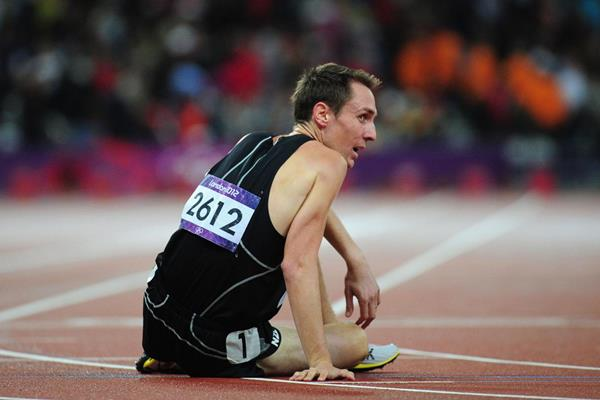 A dejected Nick Willis after finishing ninth in the 1500m final at the London 2012 Olympics (Getty Images)