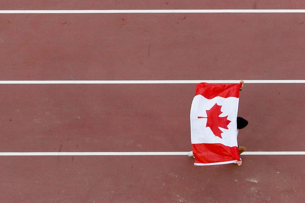 The Canadian flag at the IAAF World Championships (Getty Images)