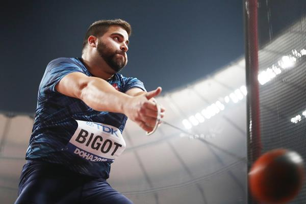 Quentin Bigot in the hammer at the IAAF World Athletics Championships Doha 2019 (Getty Images)