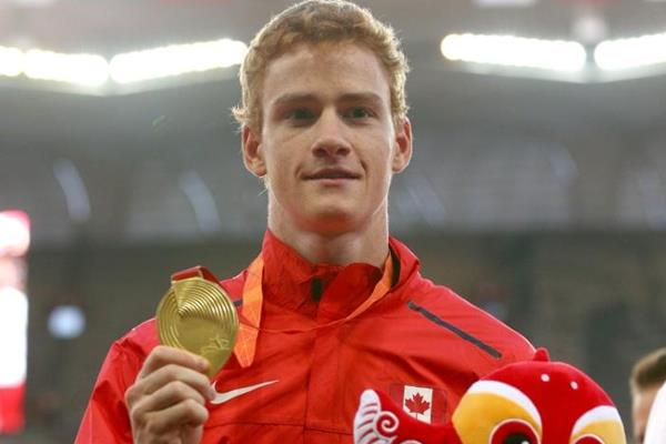 Pole vault world champion Shawn Barber at the IAAF World Championships, Beijing 2015 (Getty Images)