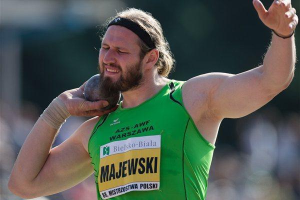 Tomasz Majewski at the Polish championships (Marek Biczyk)