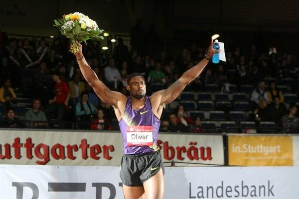 David Oliver the winner of the 60m Hurdles at the 25th Sparkassen-Cup 2011 (organisers)