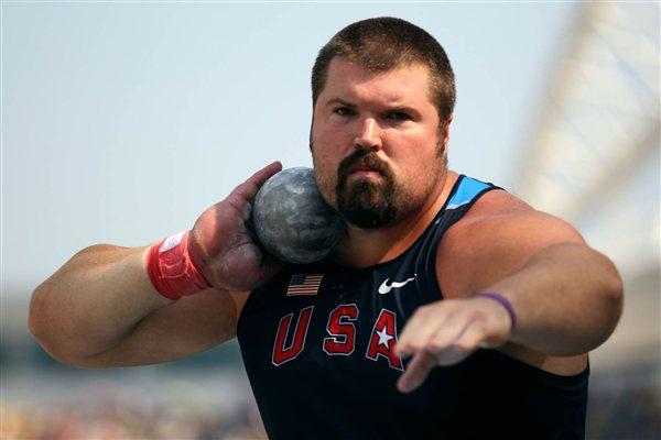Christian Cantwell of United States competes in the men's shot put qualification round during day six (Getty Images)