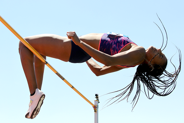 Nafissatou Thiam in the heptathlon high jump at the Hypo Meeting in Gotzis (Jean-Pierre Durand)