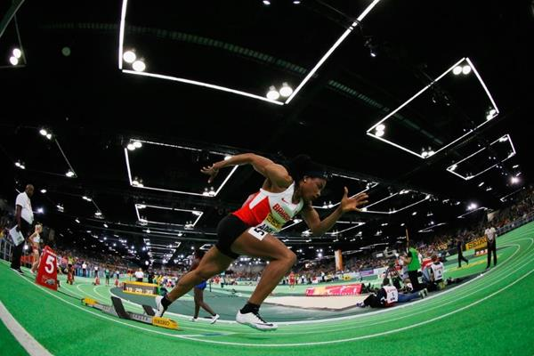 Oluwakemi Adekoya at the IAAF World Indoor Championships Portland 2016 (Getty Images)