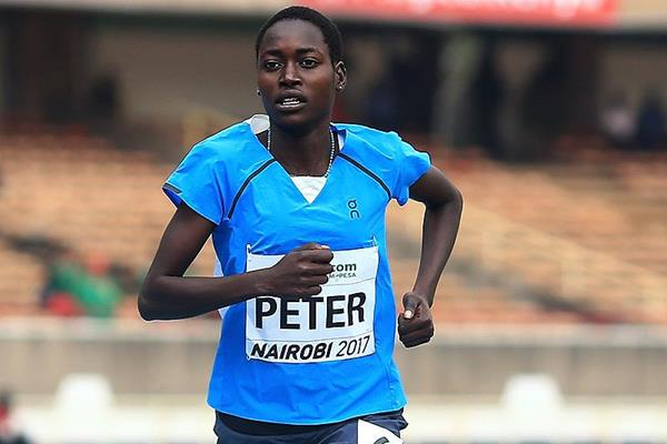 Sunday Kamisa Peter of the athlete refugee team in the 800m at the IAAF World U18 Championships Nairobi 2017 (Getty Images)
