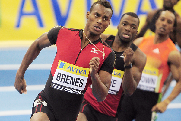 Nery Brenes in action in the 400m (Getty Images)