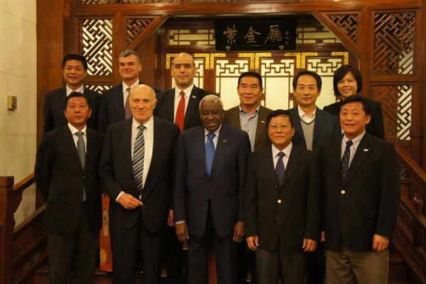 President Diack and the IAAF team with their counterparts from the Chinese Athletics Association, led by President Duan Shijie (IAAF)