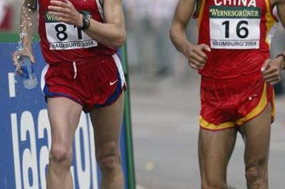 Aleksey Voyevodin of Russia leads Caohong Liu of China in Naumburg 50km (Getty Images)