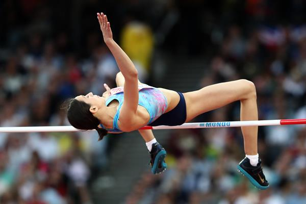 Mariya Lasitskene jumping to victory at the IAAF World Championships London 2017 (Getty Images)