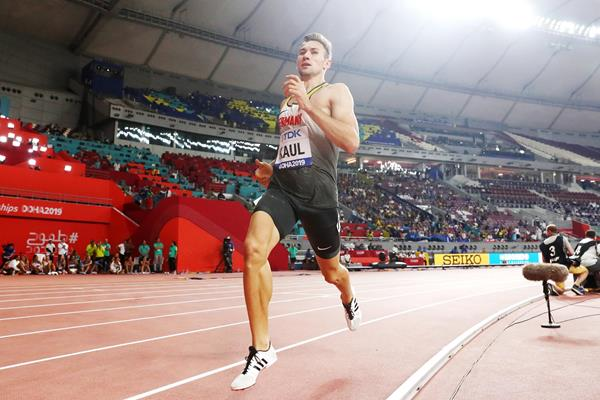 Niklas Kaul in the decathlon 1500m at the IAAF World Athletics Championships Doha 2019 (Getty Images)