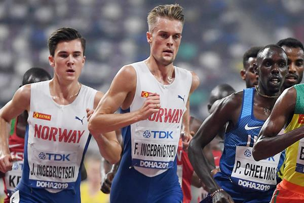 Filip Ingebrigtsen at the IAAF World Athletics Championships Doha 2019 (AFP / Getty Images)