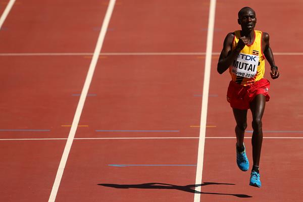 Solomon Mutai of Uganda finishes third in the marathon at the IAAF World Championships, Beijing 2015 (Getty Images)