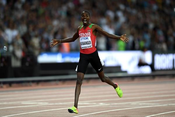 Elijah Manangoi wins the 1500m at the IAAF World Championships London 2017 (Getty Images)