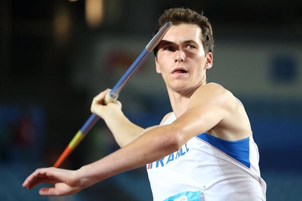 Lukas Moutarde, winner of the javelin at the Youth Olympic Games in Nanjing (YOG LOC)