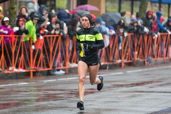 Desiree Linden on her way to winning the Boston Marathon (Getty Images)