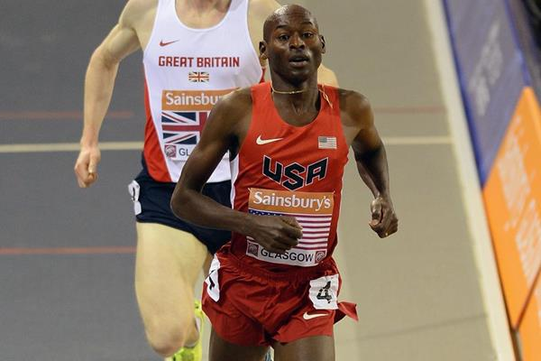 USA's Bernard Lagat wins the 3000m (Getty Images)