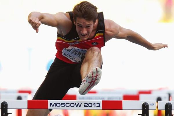 Thomas Van der Plaetsen in the decathlon 110m hurdles at the IAAF World Championships, Moscow 2013 (Getty Images)