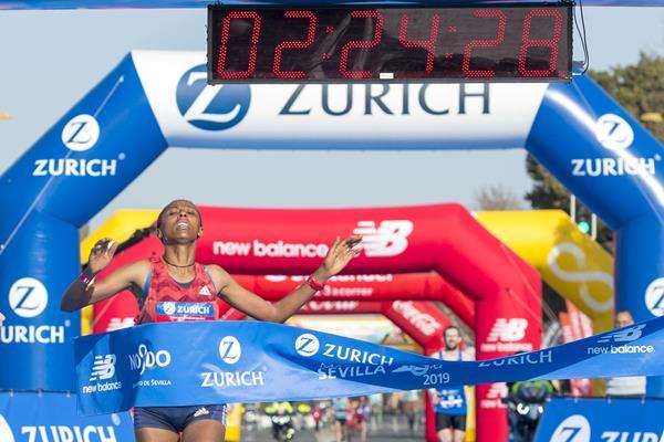Guteni Shone breaks the race record at the Seville Marathon  (Organisers)