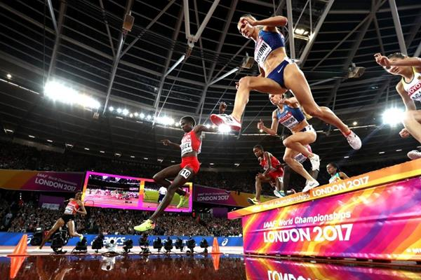 Runners in the women's steeplechase final at the IAAF World Championships London 2017 (Getty Images)