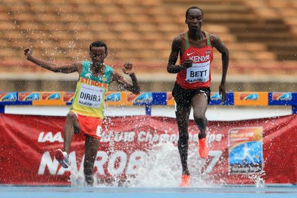 Leonard Bett in the 2000m steeplechase at the IAAF World U18 Championships Nairobi 2017 (Getty Images)