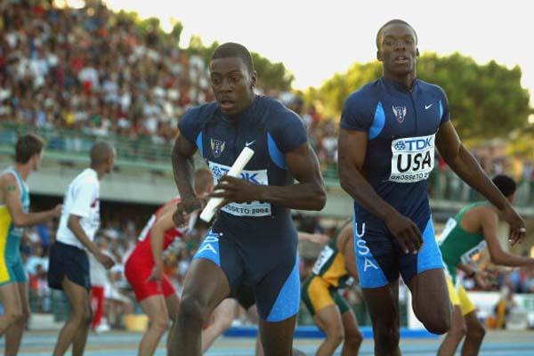 USA team during the Men's 4x400m Final (Getty Images)