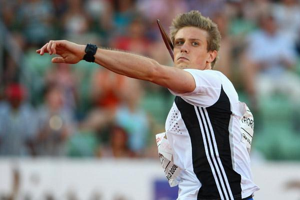 Andreas Thorkildsen wins the javelin on home soil in Oslo in 2008 (Getty Images)