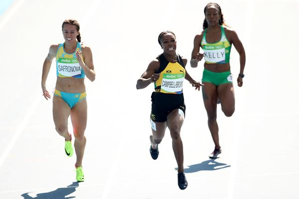 Veronica Campbell-Brown in the 200m at the Rio 2016 Olympic Games (Getty Images)