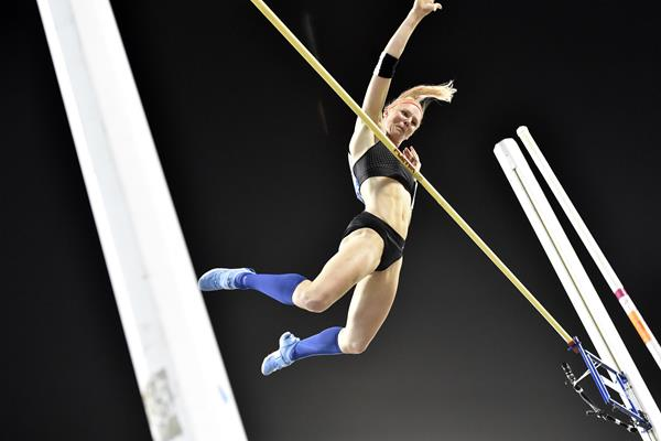 Another pole vault victory for Sandi Morris at the IAAF Diamond League meeting in Doha (Hasse Sjogren)