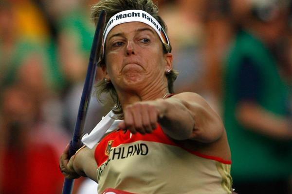 Germany's Steffi Nerius in the women's javelin at the 2009 IAAF World Championships in Berlin (Getty Images)