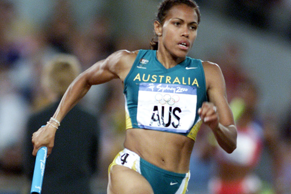 Cathy Freeman in the 4x400m at the 2000 Olympics in Sydney (Getty Images)