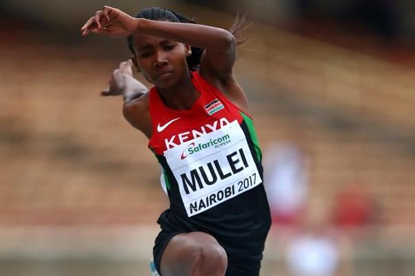 Gloria Mulei in the triple jump at the IAAF World U18 Championships Nairobi 2017 (Getty Images)