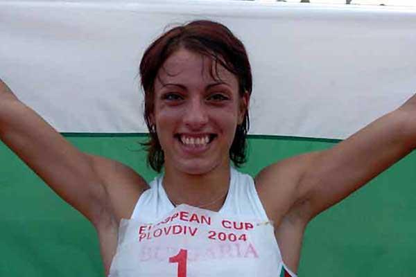 Ivet Lalova (BUL) after her 10.77 run in Plovdiv (Hasse Sjögren)