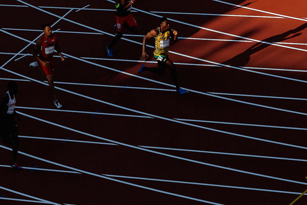 Jamaica's Rasheed Dwyer in action in the 200m at the Pan American Games (Getty Images)