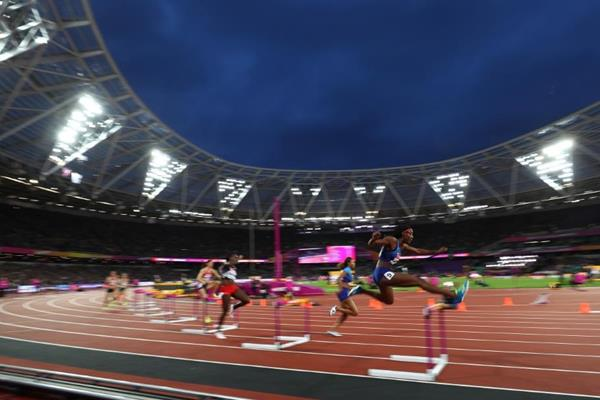 The heats of the women's 400m hurdles at the IAAF World Championships London 2017 (Getty Images)