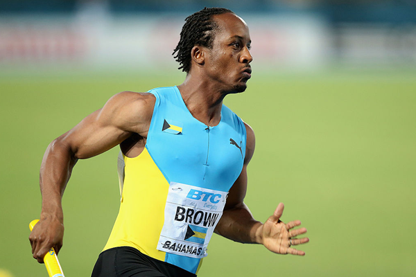 Chris Brown competes at the IAAF World Relays in 2014 (Getty Images)