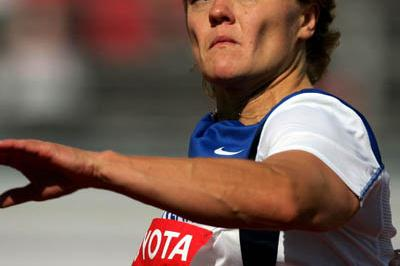 Paula Tarvainen in the Javelin qualification round (Getty Images)